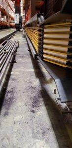 600 Laufmeter Stromschienen im Hochregallager ersetzt