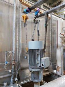 Prozesspumpen einer Pulverbeschichtungsanlage