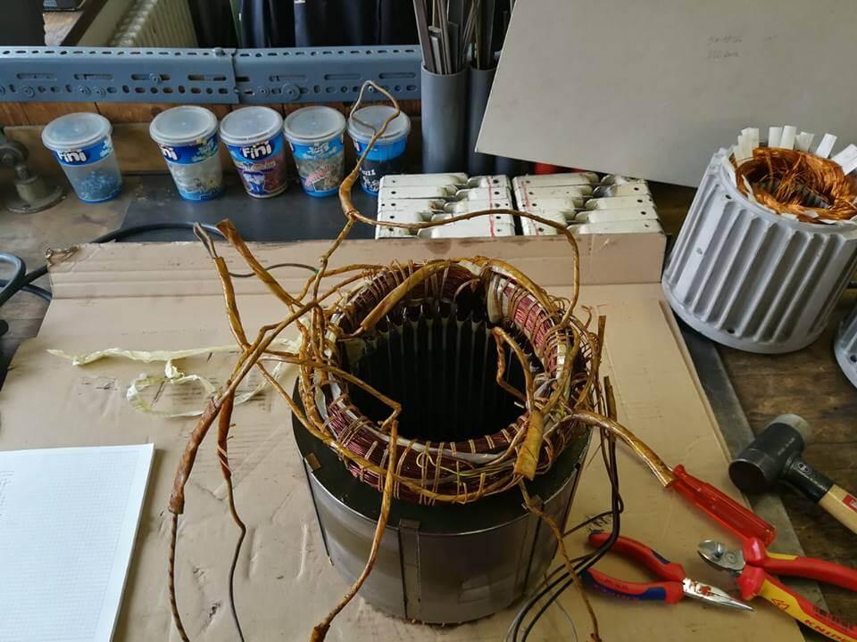 Defekte Wicklung eines Kompressorantriebs