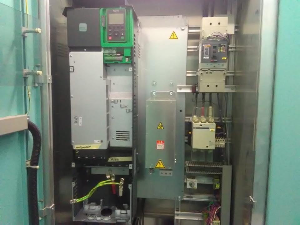 Einbau eines Frequenzumrichters