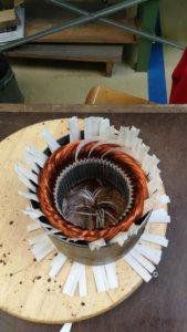 Neuwicklung eines 6poligen Stators