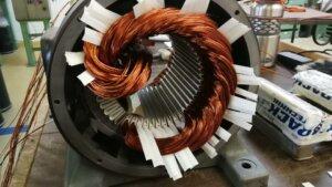 Neuwicklung der 4-poligen Wicklung des Liftmotors