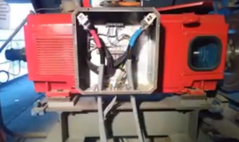 Montieren, laserausrichten und anschliessen einer Gleichstrommaschine