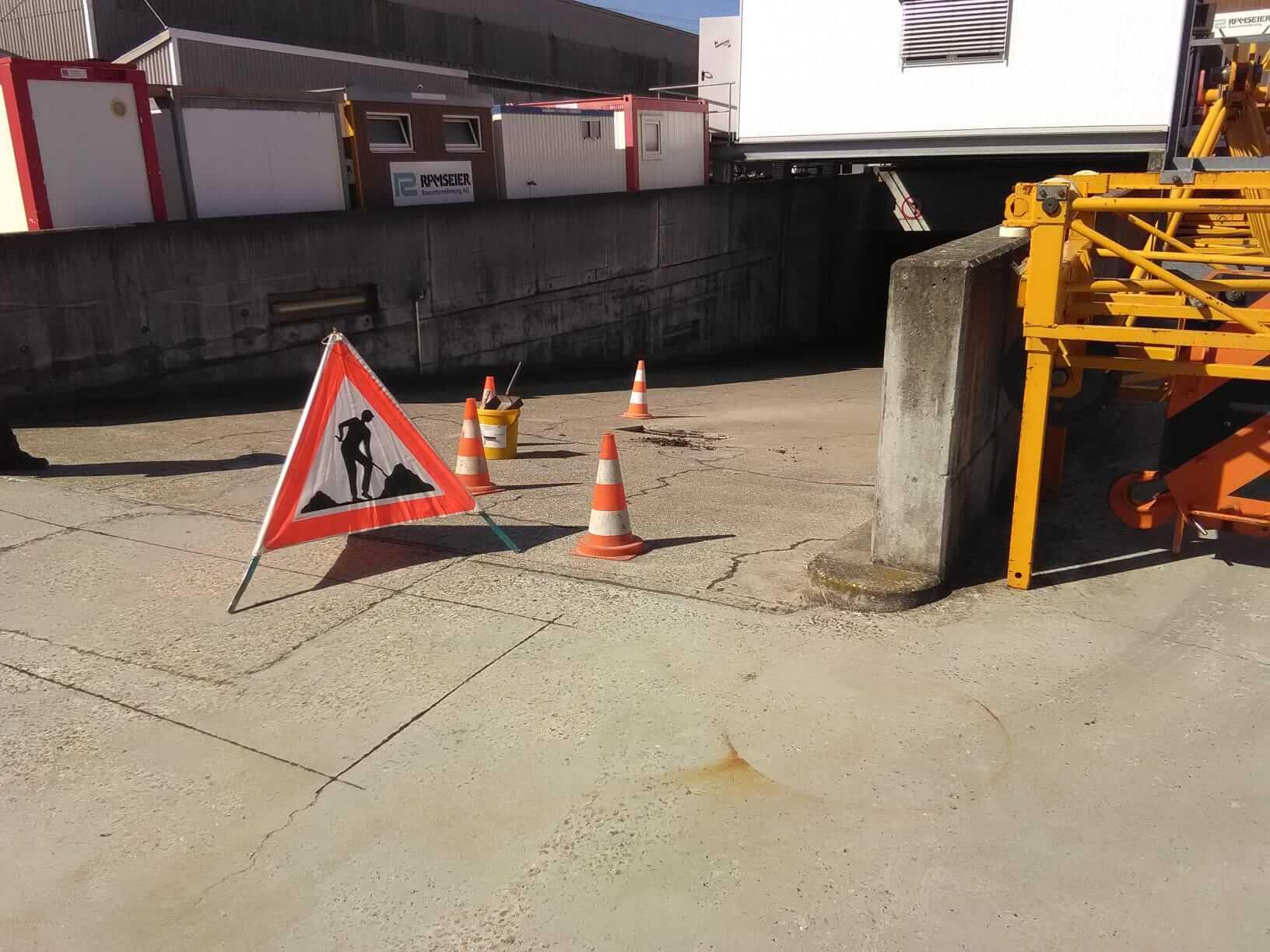 WIP Reparatur Flächenheizung