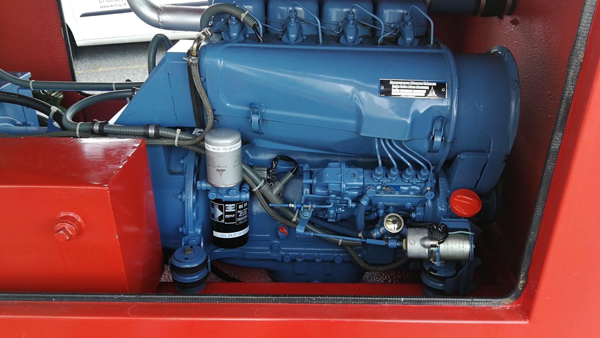 Prüfung eines 35kVA Diesel Generators