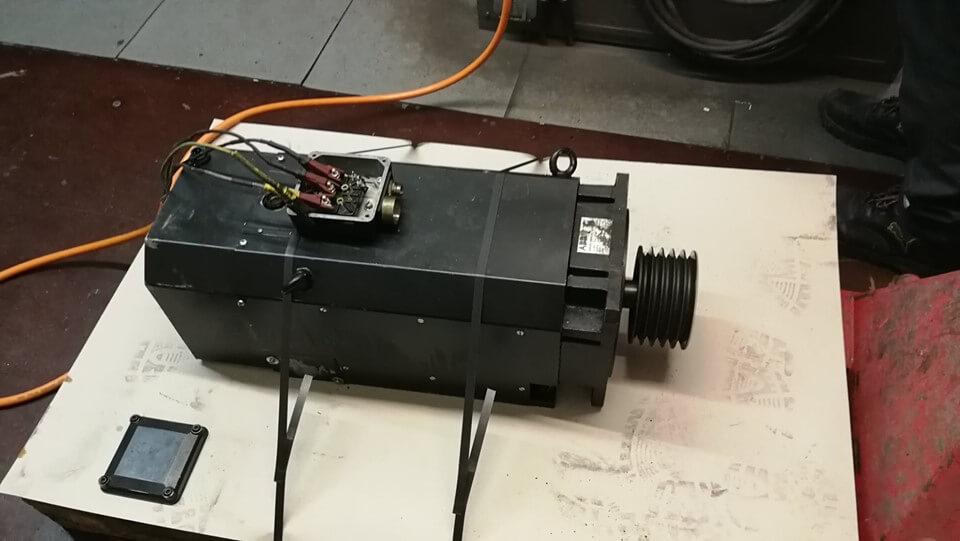 Eingangsprüfung eines Servomotors