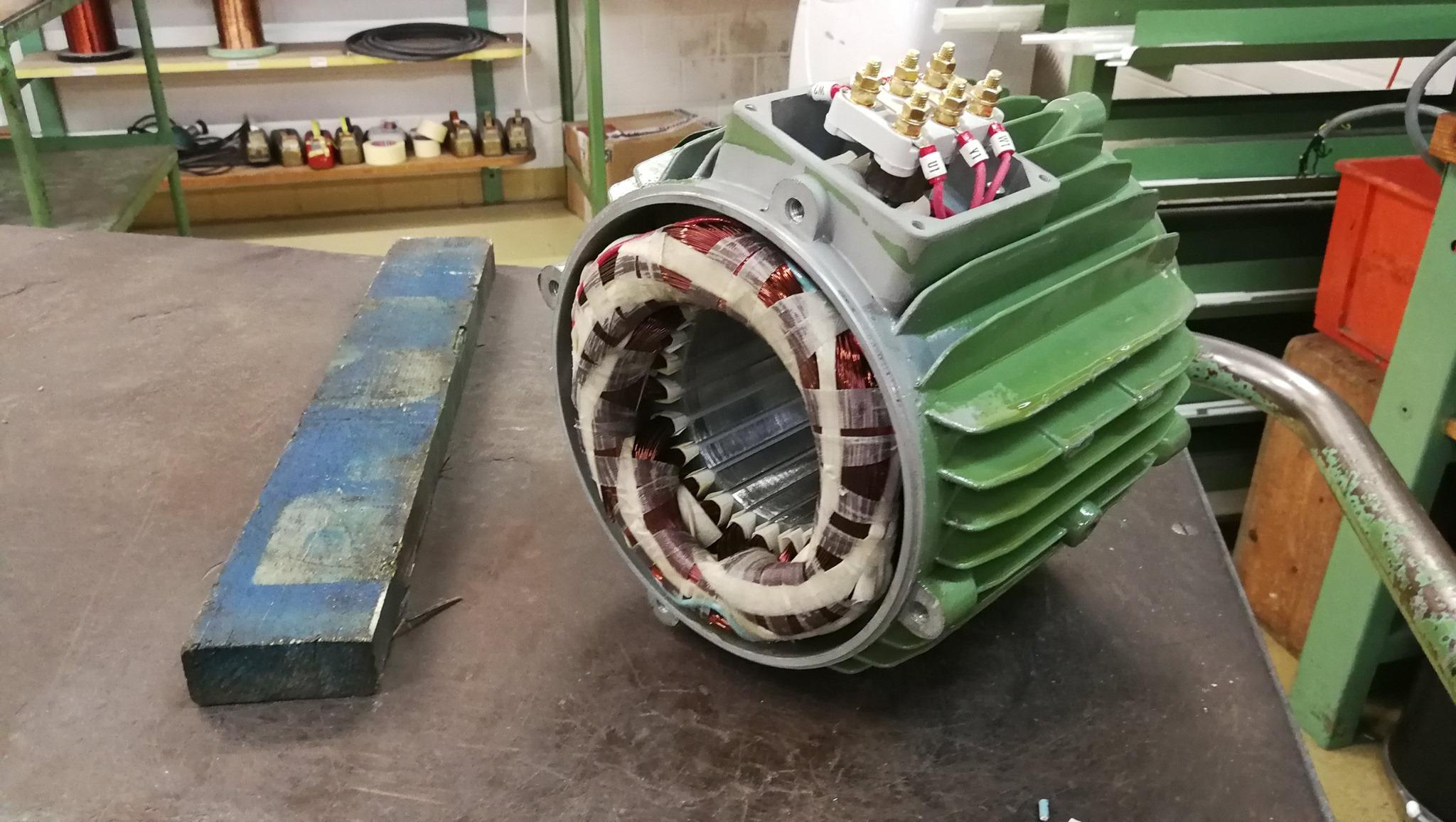 Neuwicklung eines Motors