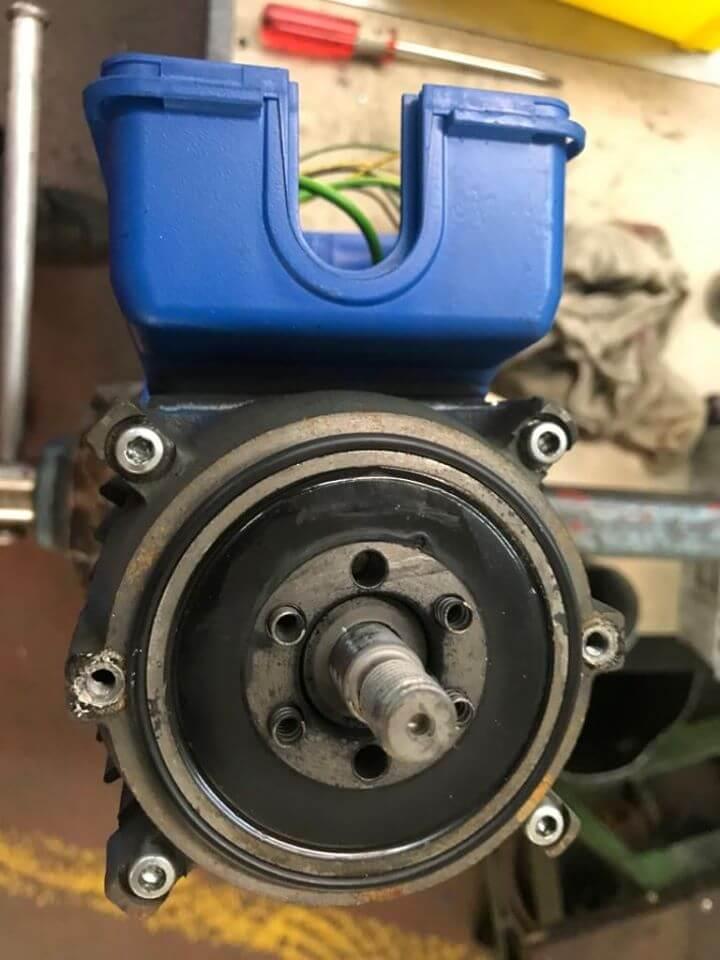 Getriebemotor eines Sanitärherstellers