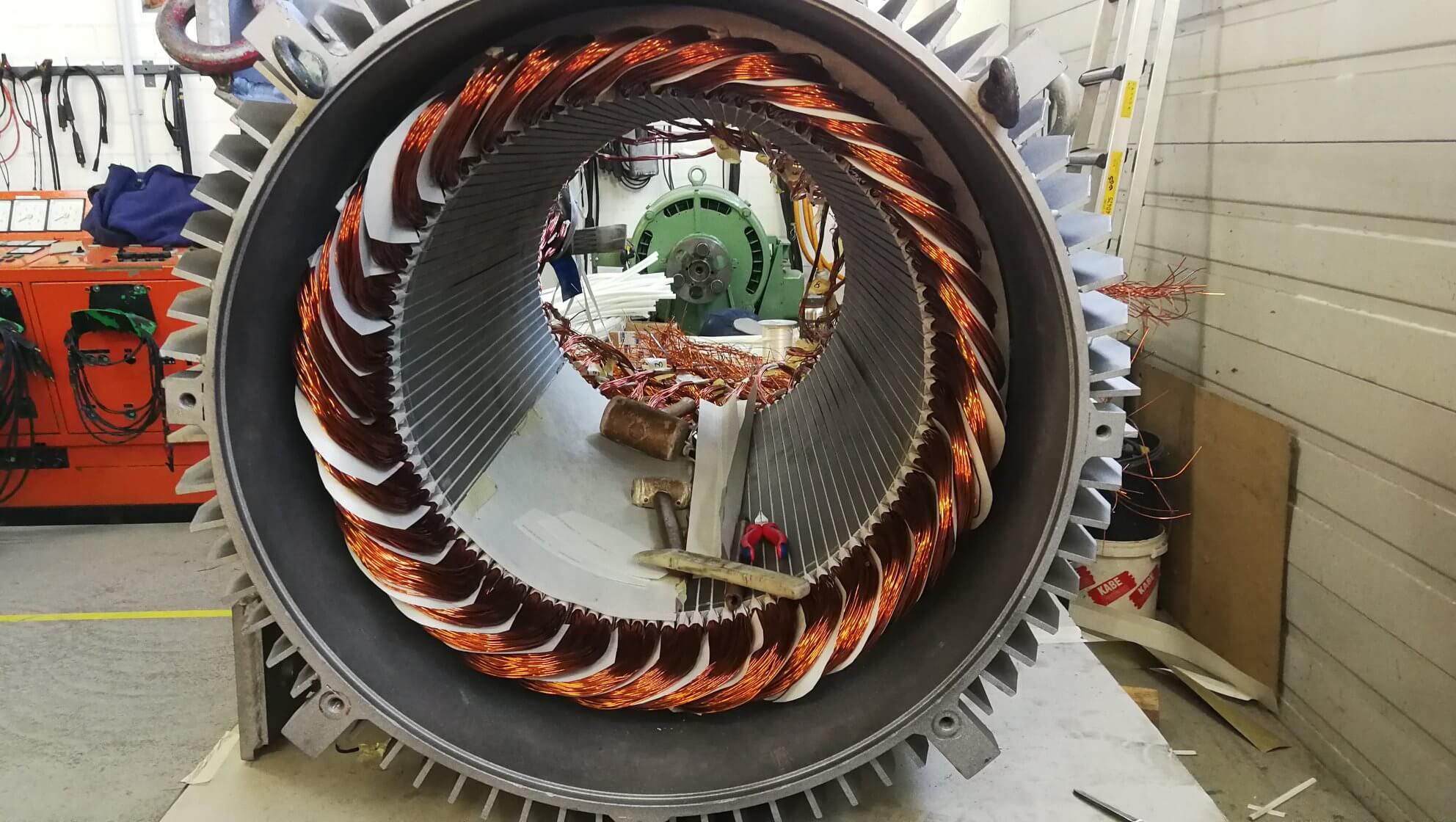 Neuwicklung eines 250 kW Generators