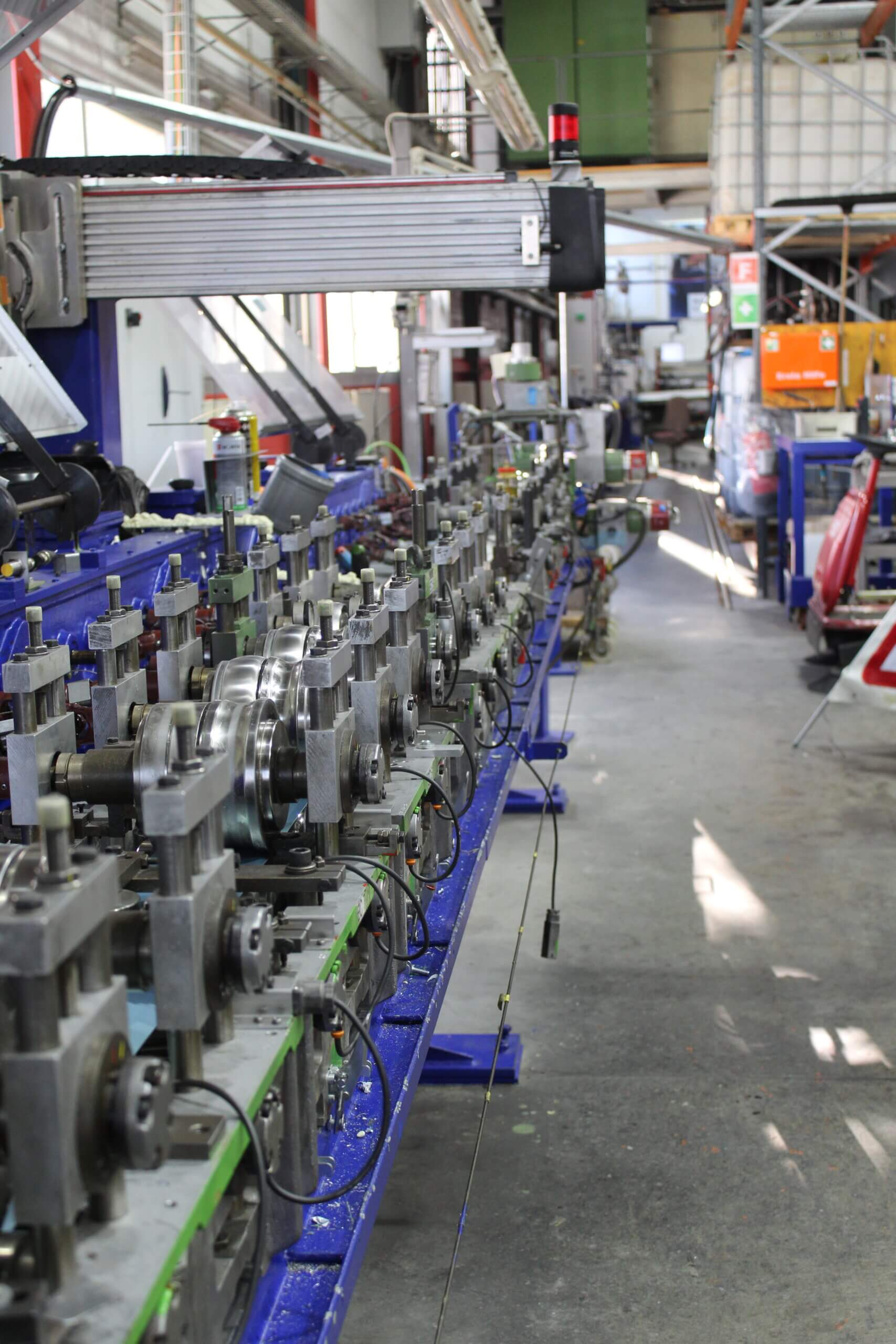 Retrofit der Schäumungsanlage einer Rollladenfabrikation